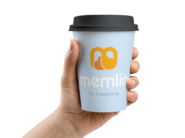 Cup with Memlin logo